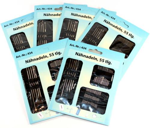 Nadeln Sticknadeln Wundernadeln Stopfnadeln Nähnadel 434 Nähnadeln 12 x 55-tlg