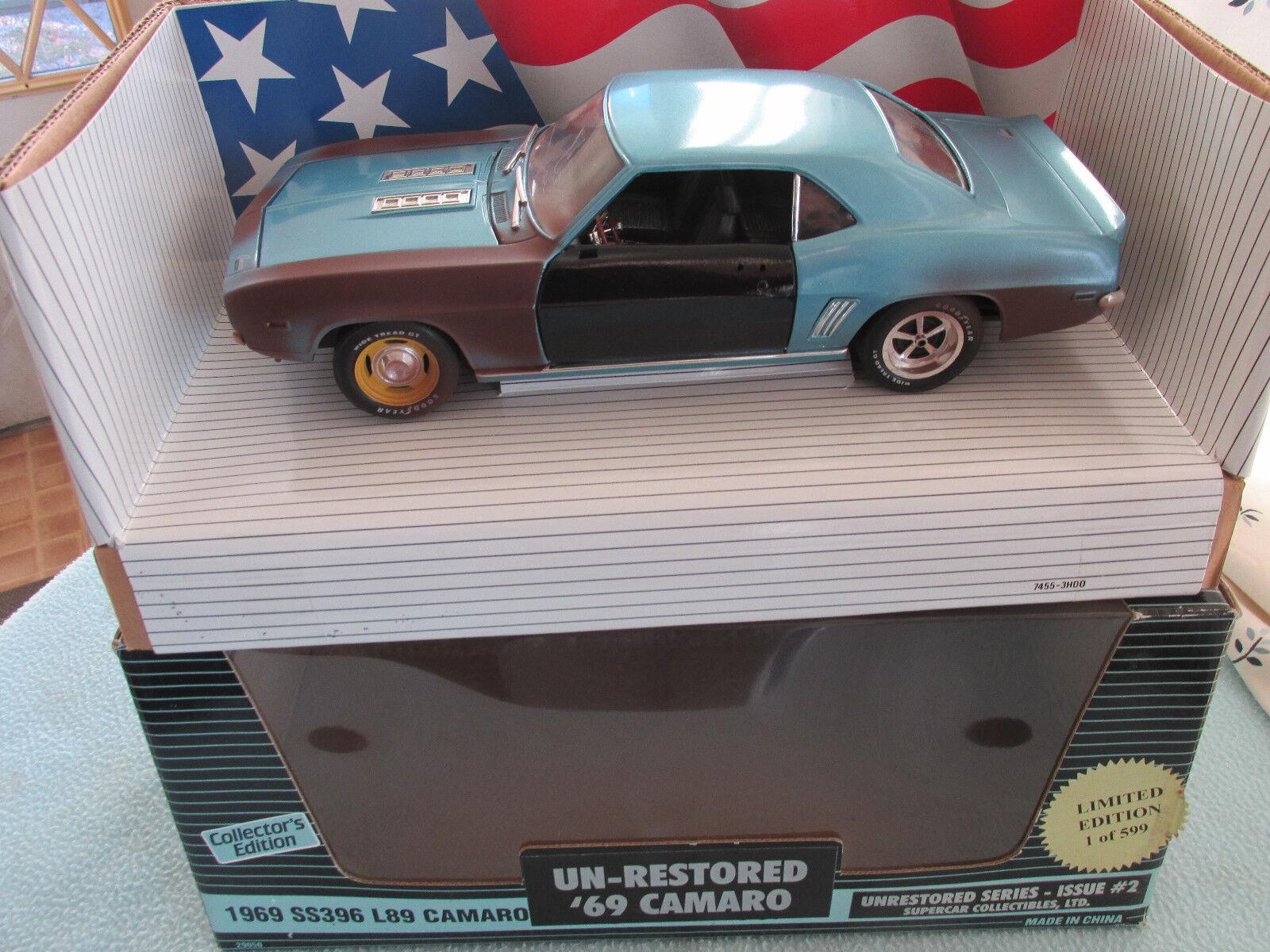 1 - 18 ertl 1969 camaro nicht ss396 l89 supersportwagen sammlerstücke 1 599
