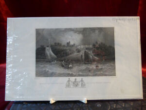 Antique-engraving-NORRIS-CASTLE-Seat-of-Lord-George-Seymour-ISLE-OF-WIGHT-c1830