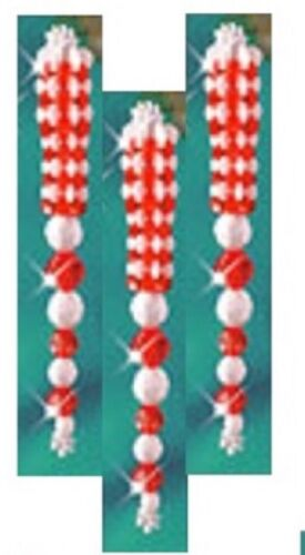 """/""""Red Icicle/"""" Ornament kit makes 3 Christmas new"""