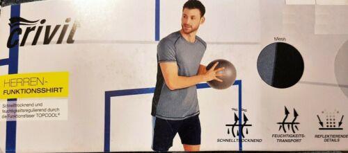 Top Crivit Men/'s Functional Shirt T-Shirt Running Jogging Cool M L XL