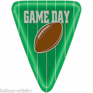 8 American Football GAME DAY Party Green Triangle Large 10\