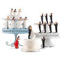 Interchangeable Mix & Match Ethnic True Romance Wedding Cake Toppers Interracial