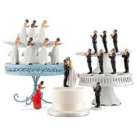 Interchangeable Mix & Match Ethnic True Romance Wedding Cake Toppers Interracial