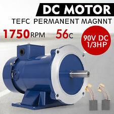 Brand New Permanent Magnet 1//2 HP 0.5 HP 90V 56C DC MOTOR  1750RPM TEFC