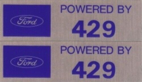 POWERED BY FORD 429 Valve Cover Decals