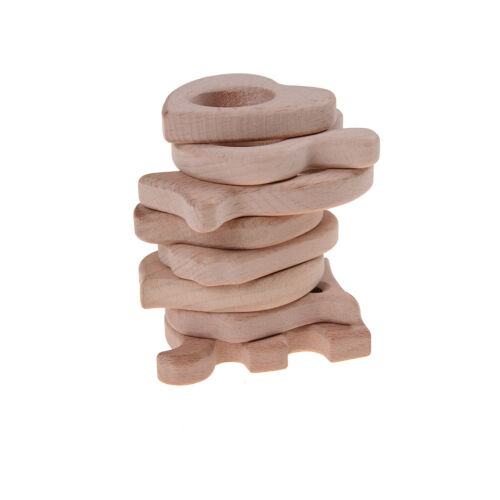 Natural Wooden Eco-Friendly Safe Baby Teether Teething Toys Baby Shower Gift.UK
