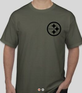 big sale c4b37 ff319 Details about Pittsburgh Steelers Salute To Service Shirt Military Green  Football Camo Troops