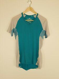Kathmandu-Women-039-s-Merino-Link-T-Shirt-Blue-Grey-Raglan-Sleeve-Active-Size-12