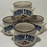 Onion Soup Bowls Set Of Four Decorative Tableware Mint Condition