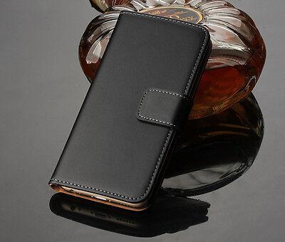 Flip Plain Genuine Leather Case Cover Holders For Microsoft Nokia Lumia Phones