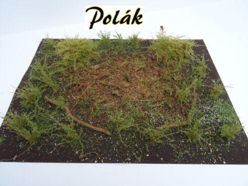 Polak 9847 G terrain Tapis dekomatte waldschlag 25x20cm à la main