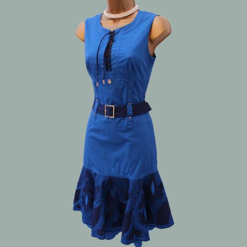 de Royal Blue style 10 robe Millen Uk d'été cocktail de robe brodé Karen 1FB8xZR