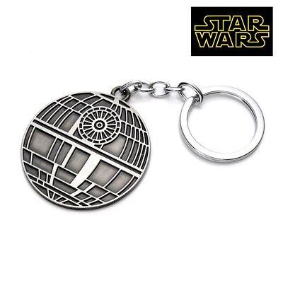 star wars death star figurine full metal replica keychain key chain