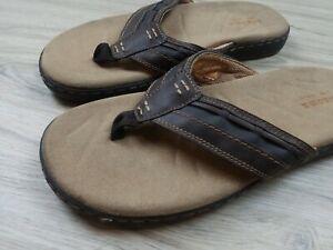 SONOMA-BROWN-THONG-SANDELS-MENS-SIZE-9-MEDIUM-Great-Condition-Beach-Wear