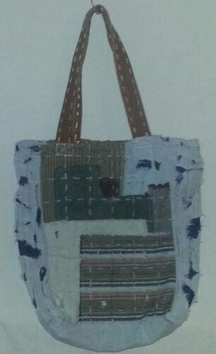 Patch Tote Nouveau Artisan Luxe Bag Patchwork Denim De Vert rCedoBQxW