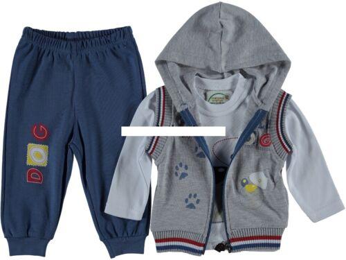 Jungen  Jogging Anzug Gr Weste 98 Set 3 Teile Set Hose 92 86 Shirt