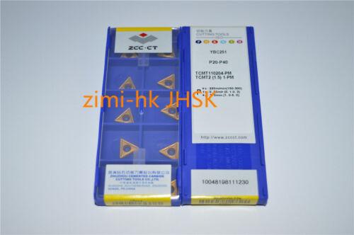 turning tool 10pcs ZCC.CT TCMT110204-PM YBC251 TCMT21.51-PM Boring knife