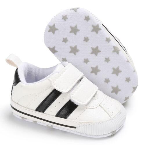Newborn Infant Baby Boy Girl Crib Shoes Toddler Sneakers PreWalker Trainers 0-18