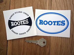 ROOTES-Classic-Car-STICKERS-Pair-Sunbeam-Hillman-Humber-Singer-Commer-Karrier