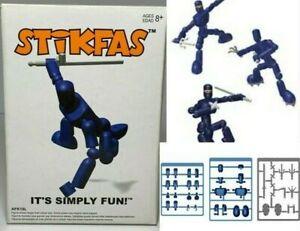 """Stikfas G2 Alpha Male Blue Ninja 3"""" Figure AFK19L Mint in Box New MIB"""