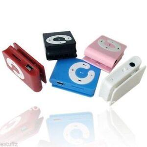 Portable Mini MP3 Music Player - MicroSD/TF Slot - Rechargeable Battery