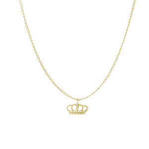 14kt Yellow Gold Small Crown Pendant