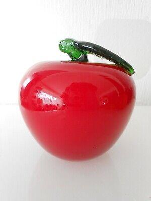 Glaskunst Apfel / Obst / Schweden ? / Murano ? / Mundgeblasen 280 G
