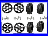 Yamaha Grizzly 660 4/110mm Tire Kit Itp Ss212 Black Rims 27x9-14 27x11-14 Hd