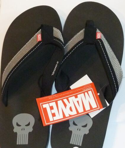 The Punisher Skull Sandals Flip Flop New NWT Size Large L 10-11