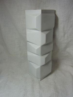 Mid Century Hutschenreuther White Matte Fuchs Vase #BN