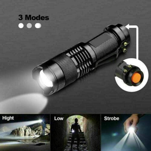 1//2//3Pack 3Mode LED Flashlight Torch Lamp Small Bright Handheld Light Night Camp