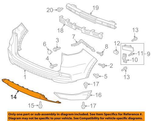 HONDA OEM 15-16 CR-V Rear Bumper-Lower Trim 71510T1WA11