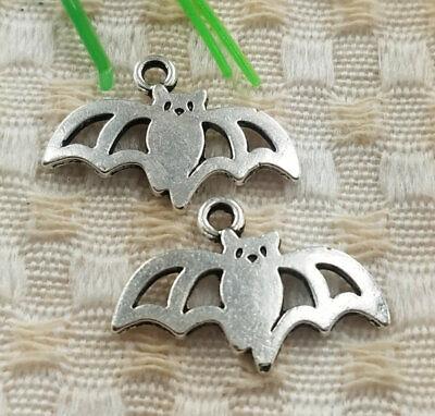 64pcs tibetan silver bat charms 24x16mm S5011 Free ship