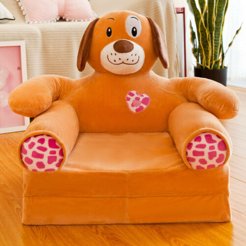 Animal Foldable Children Seat Sofa Armrest Lounger Bed Kids Chair Couch Gift