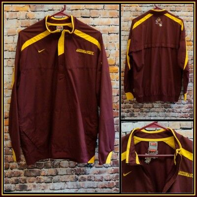 m Medium #15079 Goods Of Every Description Are Available Lovely Nike Team Fit Strom Asu Sun Devils L/s Pullover Jacket Size