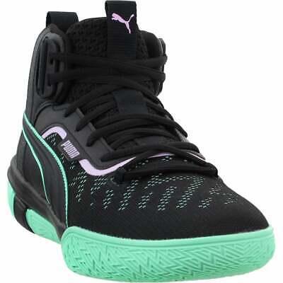 puma legacy dark mode casual basketball shoes  black