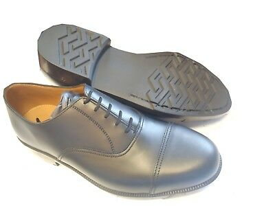 100% Wahr Black Leather Service Shoes (with Toe Cap) - Various Sizes Available - Brand New HeißEr Verkauf 50-70% Rabatt