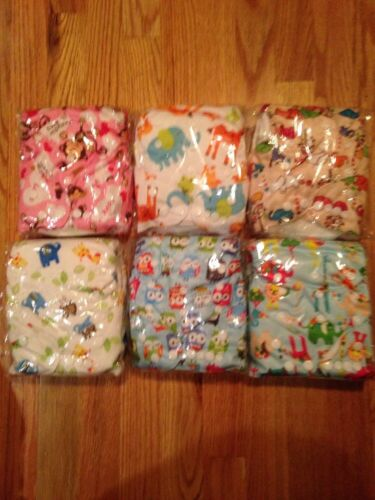 InnooBaby Cloth Diaper Adjustable Washable Reusable Eco-Friendly New 6 Pack