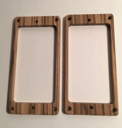 fits PRS and More USA Guilford Zebrawood Flat Humbucker Pickup Ring Set