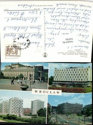 510791,poland Wroclaw Breslau Gmach Opery Hotel Panorama Mehrbildkarte