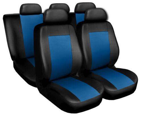 Coprisedili Copri Sedili Salva Sedili adatto per Volvo Serie V nero-blu