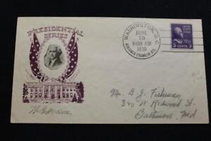 Patriotique-Housse-1938-1ST-Jour-Edition-Presidentiel-Series-Thomas-Jefferson