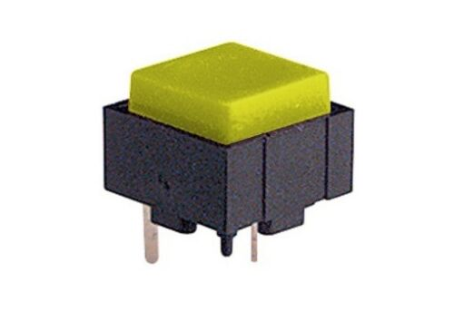 5x Micro mini pulsante 12x12mm con tasto giallo per circuito stampato pcb 24V