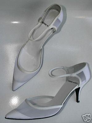 PIERRE HARDY White Pelle Heels NEW  Pumps 37  7