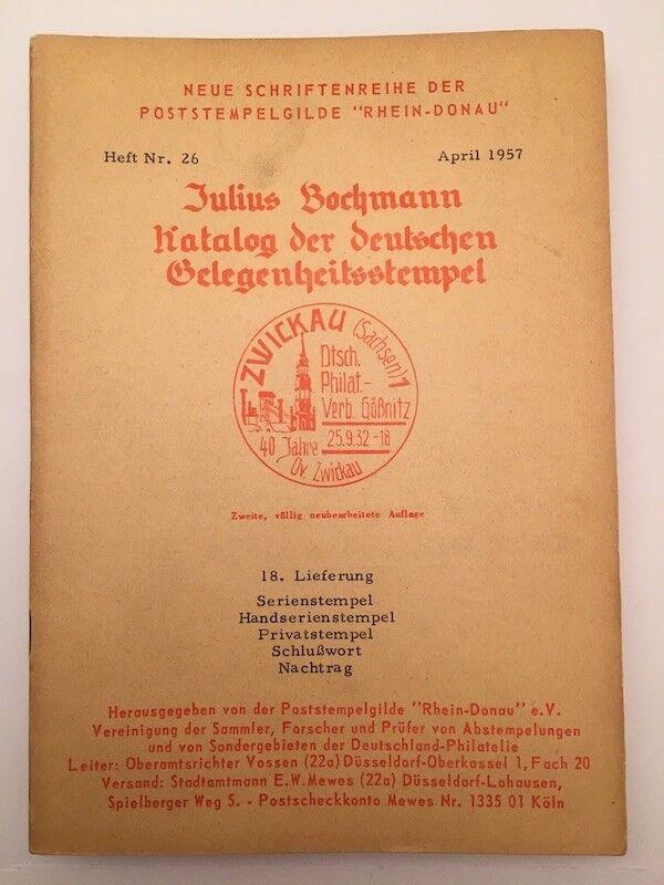 9840] Bochmann, Kataloge der deutschen Gelegenheitsstempel, Heft Nr. 26, gebrauc