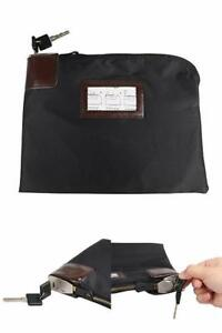 Details About Security Money Bag With Lock Deposit Locking Cash Bank Anti Theft Lockable Purse