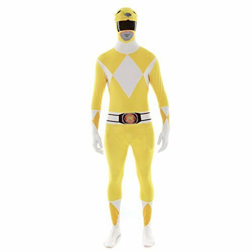 Official Yellow Power Ranger Morphsuit Costume X-Large 510-61 176cm 185
