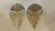 Vintage delicate chandelier hanging silver rhinestone wedding shoe clips 3 cm