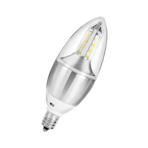 Rother 4w Filament LED C37 Candle Light Bulb E14 6500k Daylight Cool White Lamp